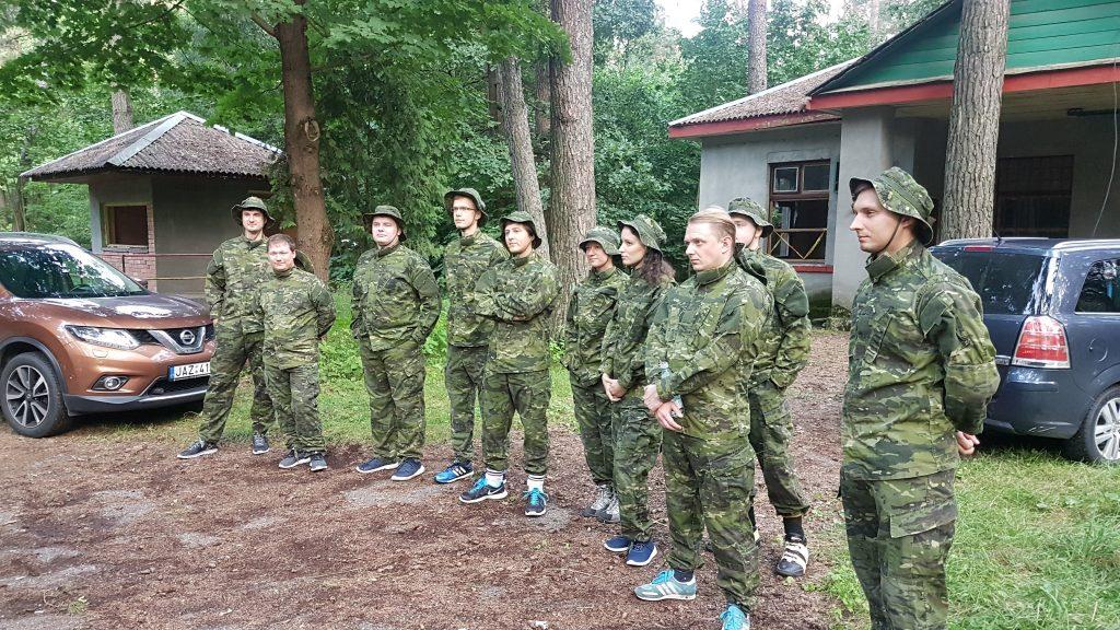akimirka iš team - building'o Lietuvoje