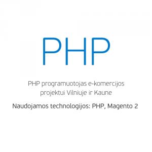 darbo pasiūlymas php programuotojui