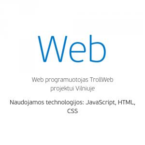 darbo pasiūlymas web programuotojui