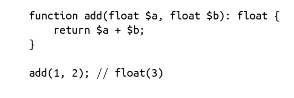 Funkcijos parametrų scalar tipo deklaracijos